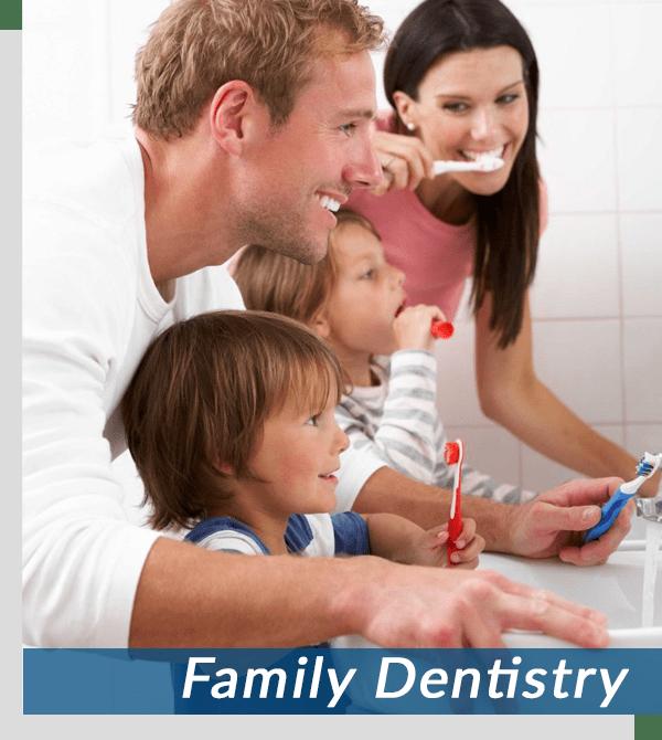 princeton nj family brushing teeth