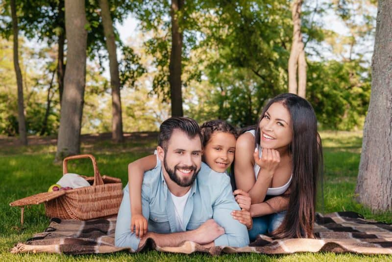 A family having fun after dental appointment